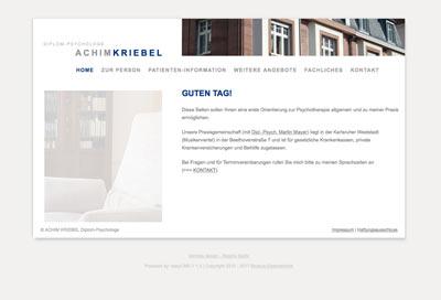 Webdesign mit CMS Psychotherapeie Kriebel