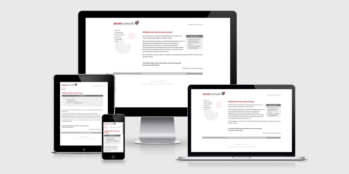 Responsive Webdesign annex-consult.de