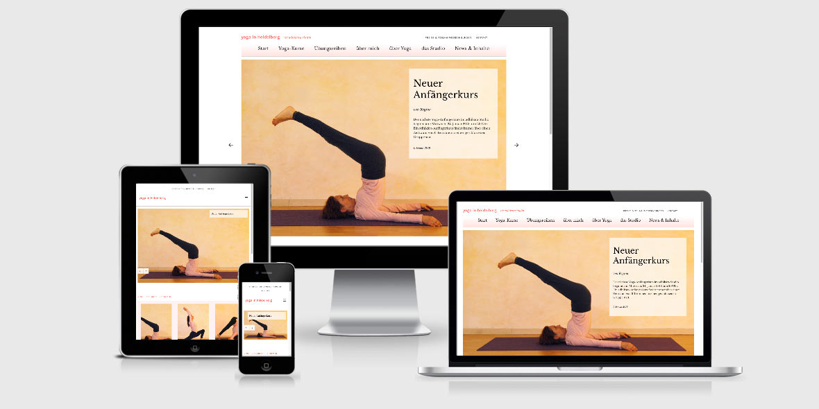 Responsive Webdesign Yoga Heidelberg