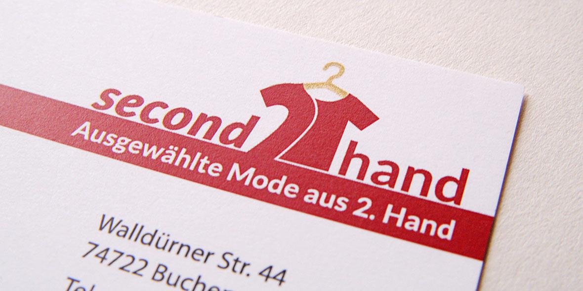 Visitenkarte secondhand-Laden