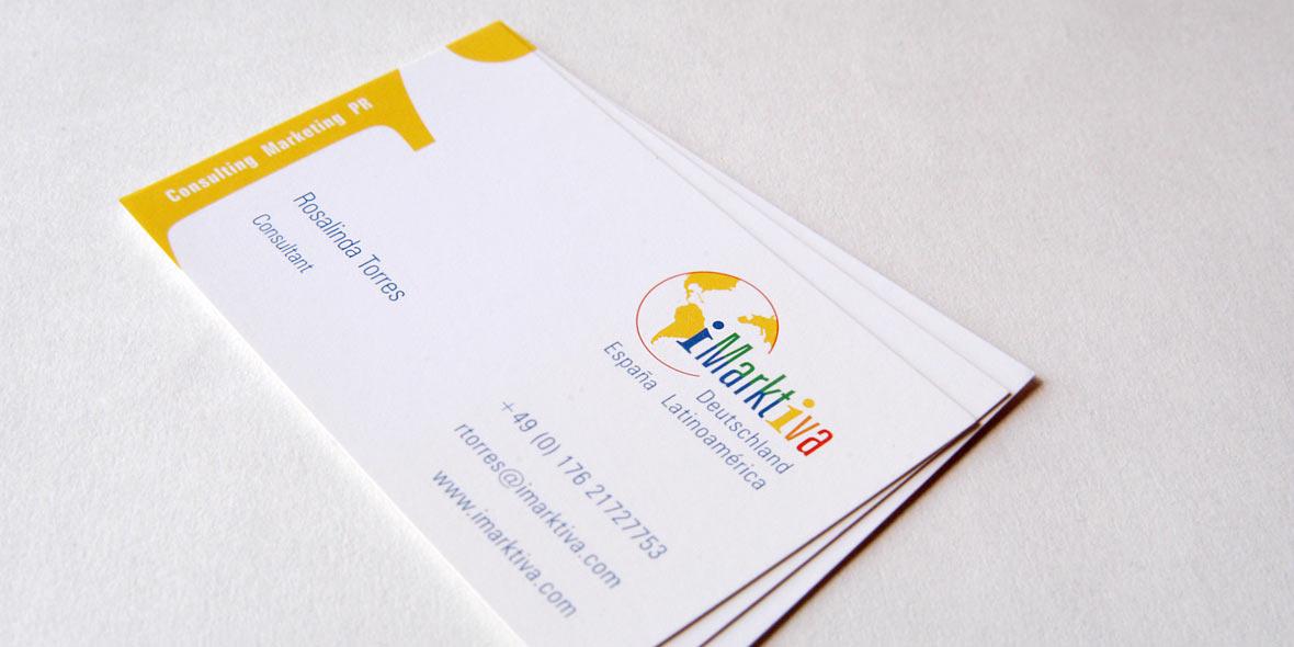Visitenkarte Consulting Marketing