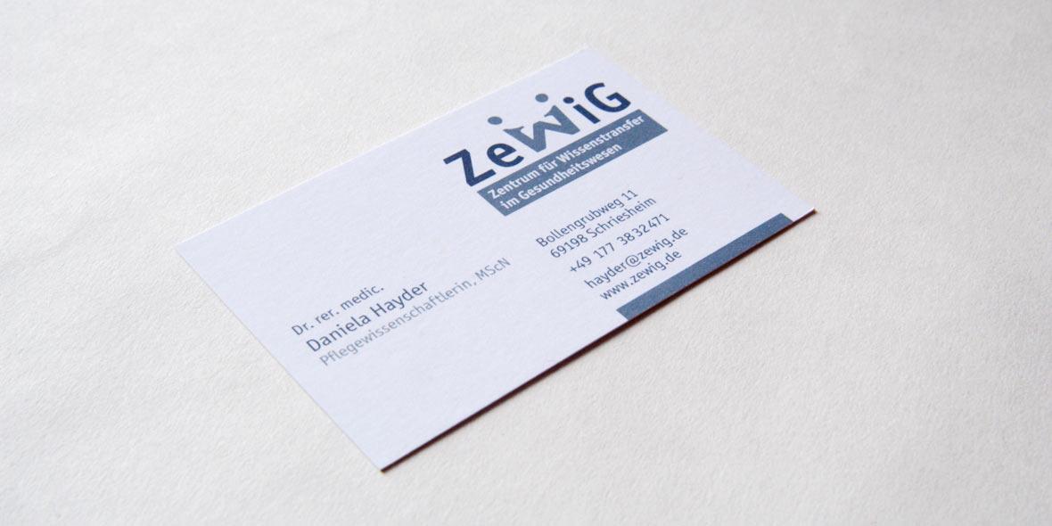 Visitenkarte ZeWiG