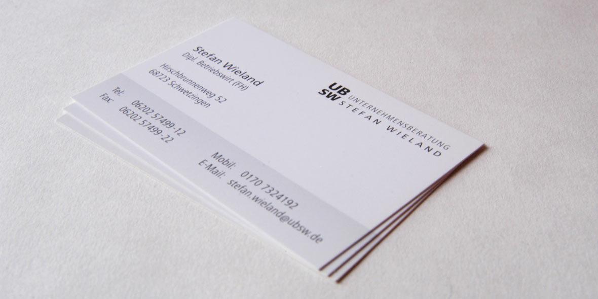 Visitenkarte Unternehmensberatung