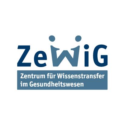 Logo ZeWiG, Zentrum für Wissenstransfer im Gesundheitswesen