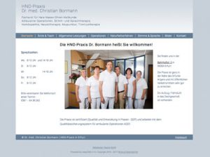 Webdesign mit CMS HNO Bormann