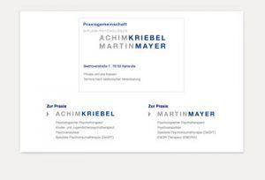 Webdesign mit CMS Psychotherapeuten Kriebel und Mayer