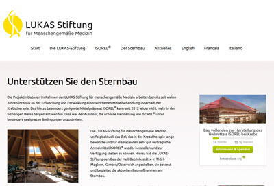 Responsive Webdesign Lukaststiftung