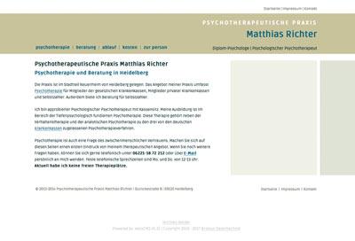Webdesign Psychotherapie Matthias Richter Heidelberg