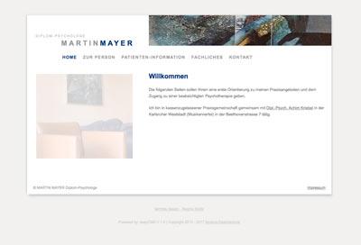 Webdesign mit CMS Psychotherapie Mayer