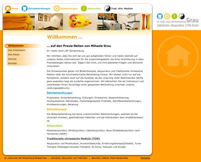 Webdesign Praxis Grau