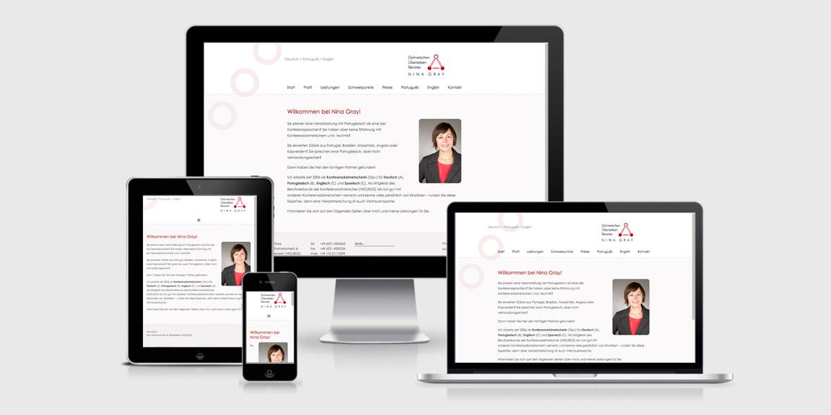 Responsive Webdesign Gray Dolmetschen