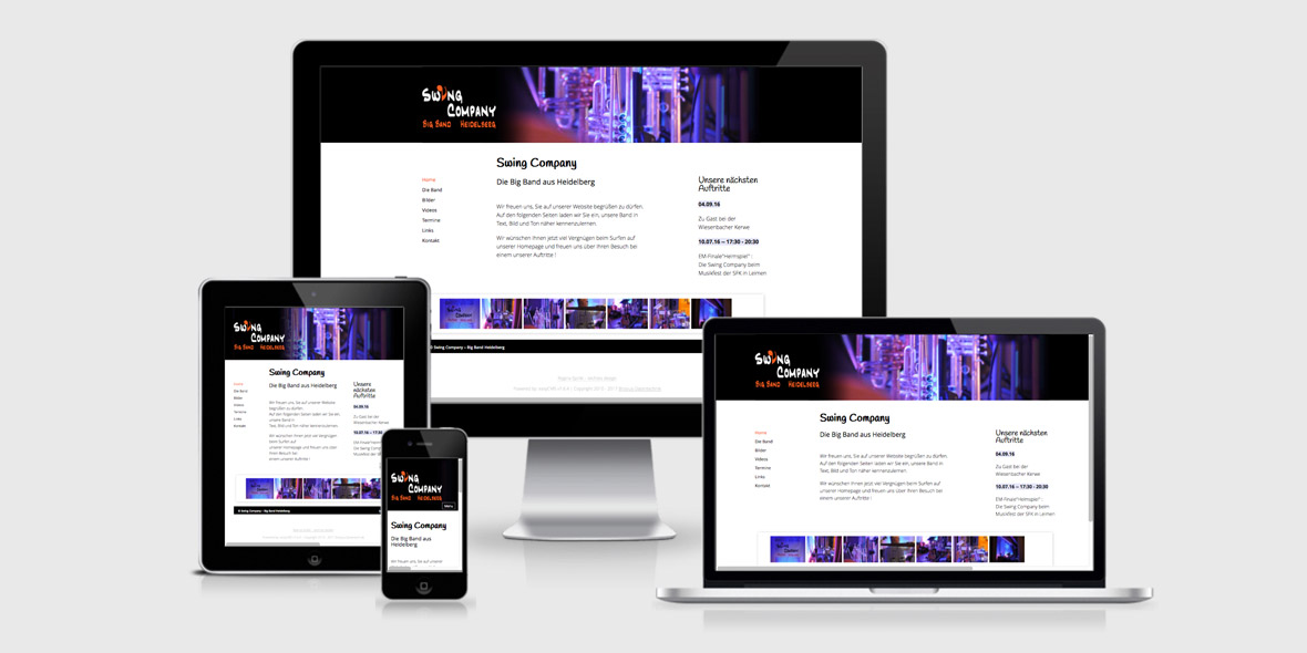 Responsive Webdesign Swing Company