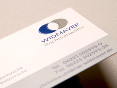 Visitenkarte mit Relieflack