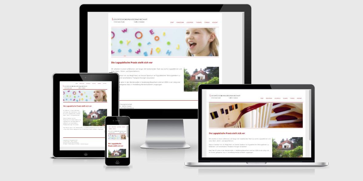 Responsive Webdesign Logopaedie Heidelberg