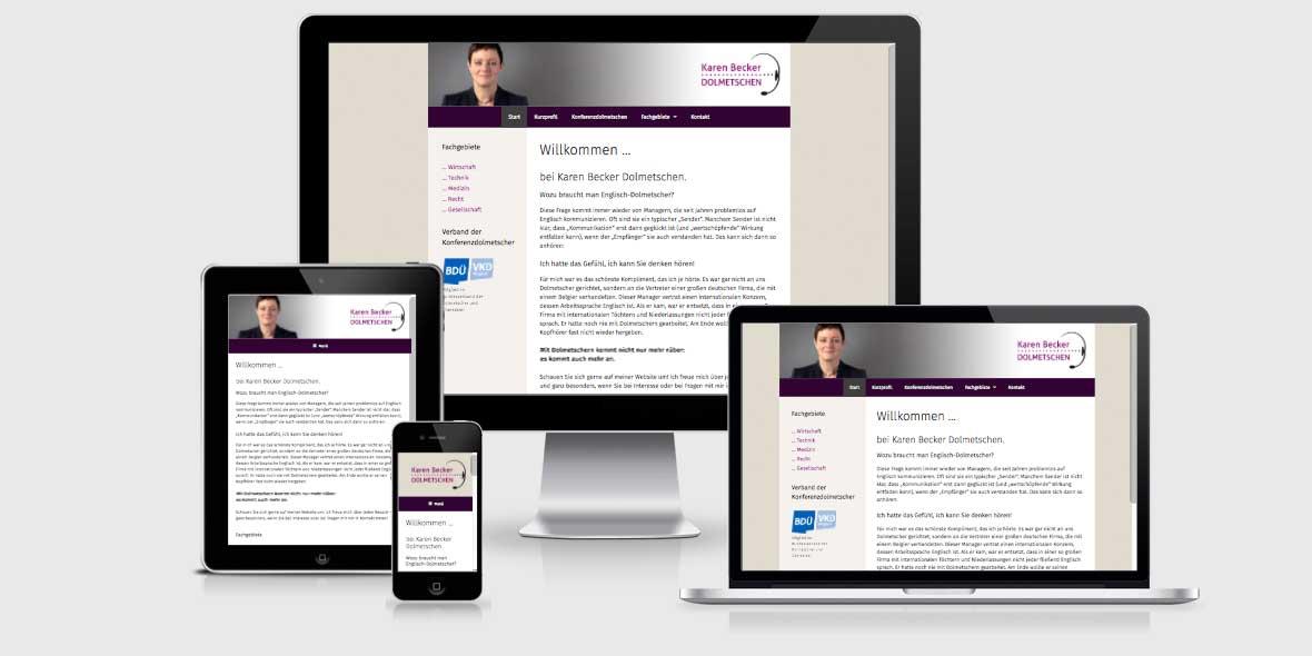 Responsive Webdesign becker-dolmetschen.de