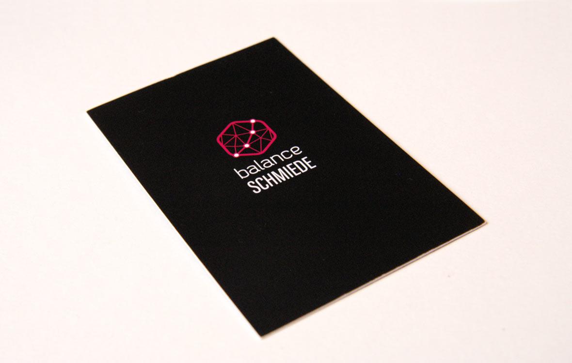 Visitenkarte BalanceSchmiede schwarz