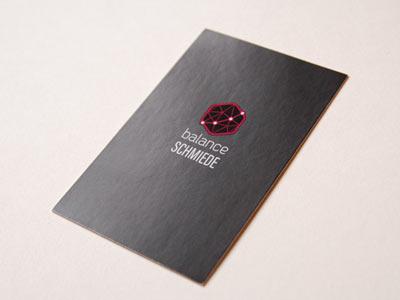 Visitenkarte mit partiellem Drucklack