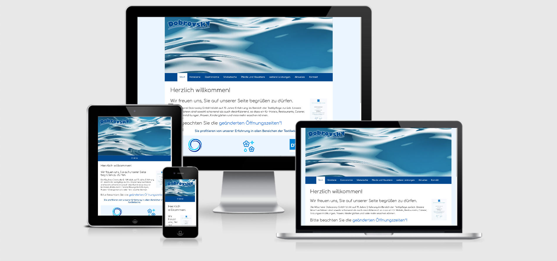 Responsive Webdesign Wäscherei Dobrovsky