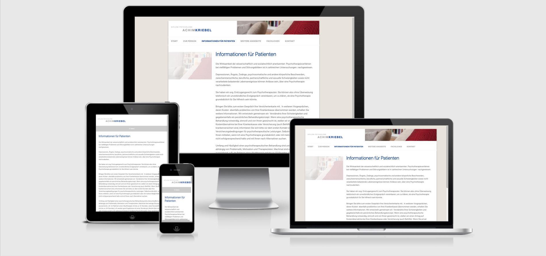 Responsive Webdesign Achim Kriebel