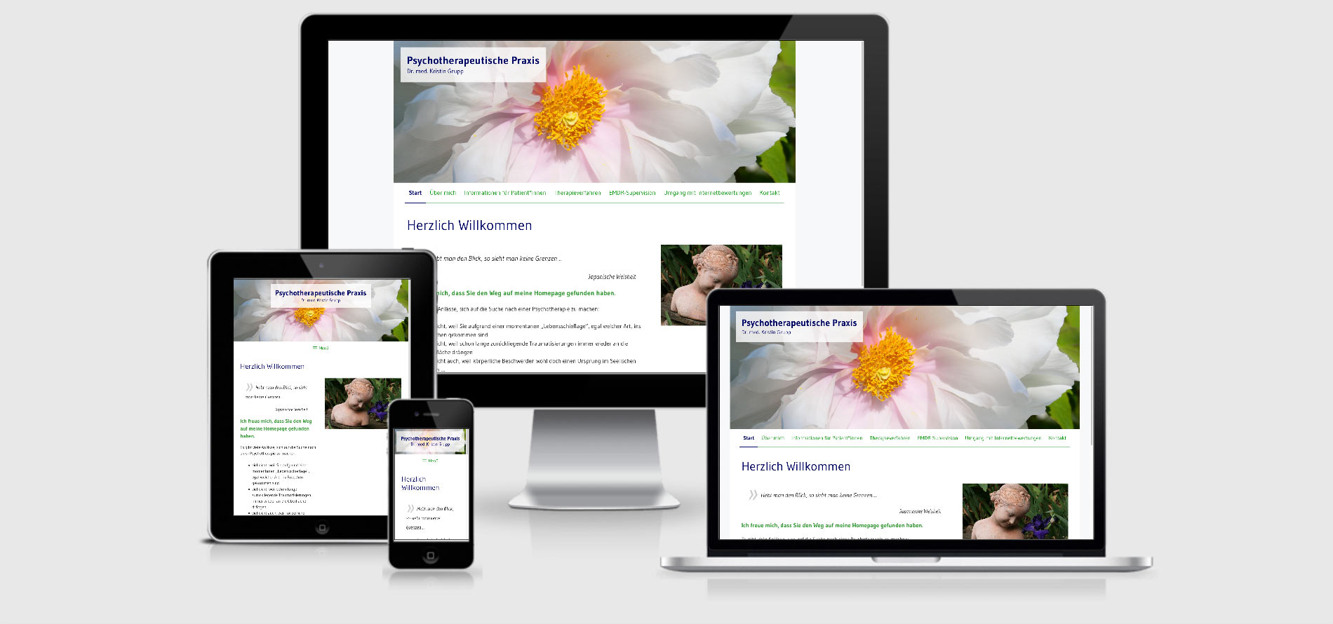 Webdesign Dr. med. Kristin Grupp